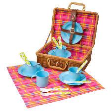 kids picnic basket picnic basket 18 pc kids pretend picnic set educational toys planet