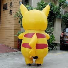 new yellow inflatable pikachu costume halloween costume for kids