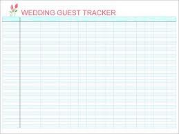 Wedding Guest List Excel Template Wedding Invite List Paperinvite
