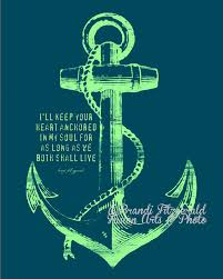 5x7 Love Anchors The Soul - anchored in happily ever after marriage anchor quote gift wall