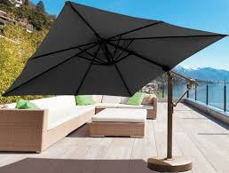 Square Cantilever Patio Umbrella by 10 Foot Square Cantilever Patio Umbrella With Black Sunbrella