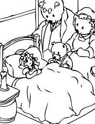 goldilocks bears colouring pages funycoloring