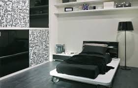 white and black bedroom ideas soft hairy skin carpet integrated
