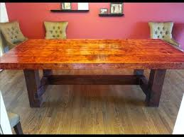 Do It Yourself Dining Room Table YouTube - Building your own kitchen table