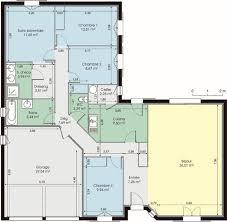 plan 4 chambres plain pied plan de maison plain pied 4 chambres plan maison moderne 90m2