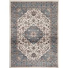 Blue And White Area Rugs World Rug Gallery Traditional Medallion Design Blue 2 Ft
