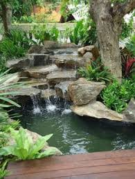 Retention Pond In Backyard Backyard Waterfalls And Ponds To Beautify Your Outdoor Decor