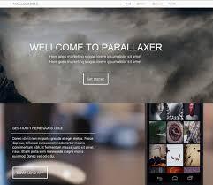 bootstrap themes free parallax parallax template parallaxer bootstrap 30 parallax one page template