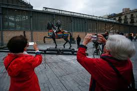 Barcelona Spain Flag Franco Took Decades To Leave The World Stage His Statue Only