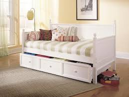 White Daybed With Storage White Daybed With Trundle And Storage Design Ideas Home Designs