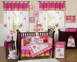 Nursery Bedding And Curtain Sets by Butterfly Baby Crib Bedding Set Pink U0026 Orange 9pc