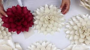 wedding backdrop flowers diy paper dahlia tutorial my wedding backdrop flowers