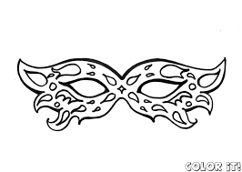 free mask coloring pages with carnival new page glum me