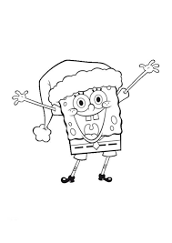 coloring pages of christmas spongebob christmas coloring pages