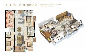 3 Bedroom Floor Plans by The Galleria Luxury Apartments U0026 Shops In Bahria Enclave Islamabad