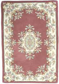 Wool Indian Rugs Aubusson Rose Ivory Wool Rug From India Traditional Aubusson