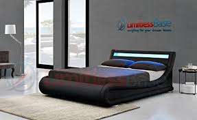new exclusive rio led black designer curved ottoman gas lift