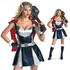 Woman Superhero Halloween Costumes Halloween Party Women Thor Costumes Super Hero Cosplay Dress