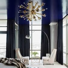 navy blue curtains design ideas