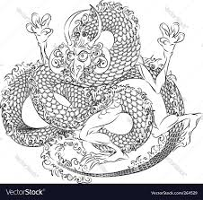 japanese dragon royalty free vector image vectorstock