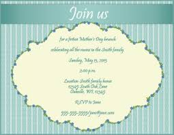 brunch invitation ideas invitations for s day