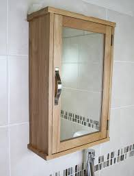 Solid Oak Wall Mounted Bathroom Cabinet - Solid wood bathroom vanity uk