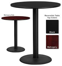 Black Bistro Table Flash Furniture 36 Inch Round Bar Table With Reversible Laminate