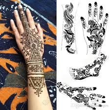 2pcs mehndi henna tattoo stencil lot large black henna tattoo for