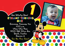mickey mouse birthday invitation template free