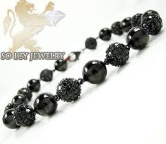 black diamonds bracelet images Black sterling silver black diamond macram smooth bead rope jpg