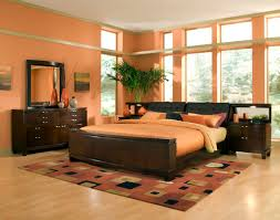 bedroom inspiring bedroom farnichar dizain with orange paint wall