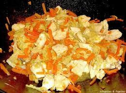cuisiner chou chinois wok de poulet au chou chinois