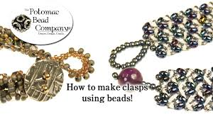 beaded necklace clasps images How to make clasps using beads jpg