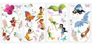 disney fairies with tinkerbell wall decals wall2wall disney fairies with tinkerbell wall decals