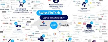 Swiss Map Swiss Fintech Startup Map March Update Neu Mit Sektor Graphic