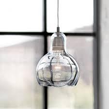 modern globe glass pendant light for kitchen big bulb l shade
