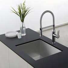 Commercial Kitchen Sinks Kraus Kpf 1640 Nola Single Lever Flex Commercial Kitchen Faucet