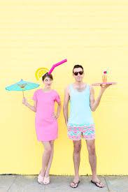 tropical drink emoji diy tropical drink pool boy couples costume studio diy