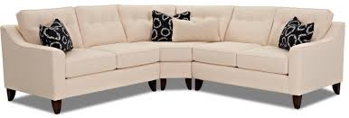 Klaussner Raleigh Nc Klaussner Audrina Contemporary 3 Piece Sectional With Wedge