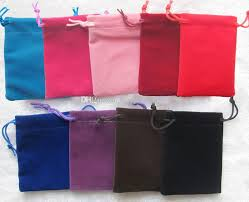 velour velvet bag jewelry pouch gift wrap 9 x 12 cm 3 5 x 4 7
