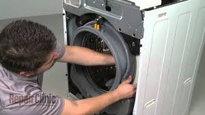 replace lg front load washer door boot seal mds47123604 youtube