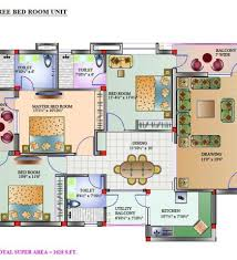 3 Bedroom House Plans Indian Style Three Bedroom House Plans In India 3 Bedroom House Plans India 3