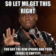 New Iphone Meme - new iphone funny kevin hart meme