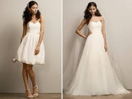 two dresses one price tag convertible wedding dresses bridal - 2 Wedding Dresses