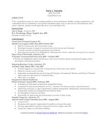 Social Work Resume Resume For Social Worker