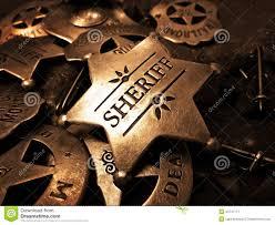 sheriff u0027s badge tin star law enforcement stock photo image 43747771