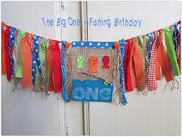 fishing birthday banner the big one fishing birthday fishing