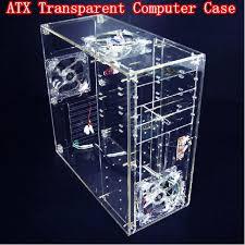 Pc Case Diy 2017 Diy Acrylic Full Transparent Computer Case Vertical Computer