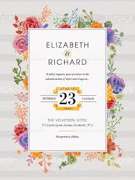 wedding invitation template floral wedding invitation template stock vector more images