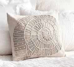 Pottery Barn Decorative Pillows Embellished Shell Pillow Cover Pottery Barn
